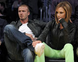 Victoria and David Beckham @ Los Angeles Lakers and San Antonio Spurs play May 23
