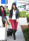 Виктория Джастис, фото 2329. Victoria Justice - Boots & Snug Plaid Jeans at LAX airport in Los Angeles on February 25, foto 2329