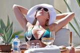 Katherine Heigl - Green Bikini Pictures Vacation in Mexico