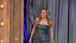 Kristen Bell  -  Jimmy Fallon,  August 22, 2012 - 810p  mp4  caps